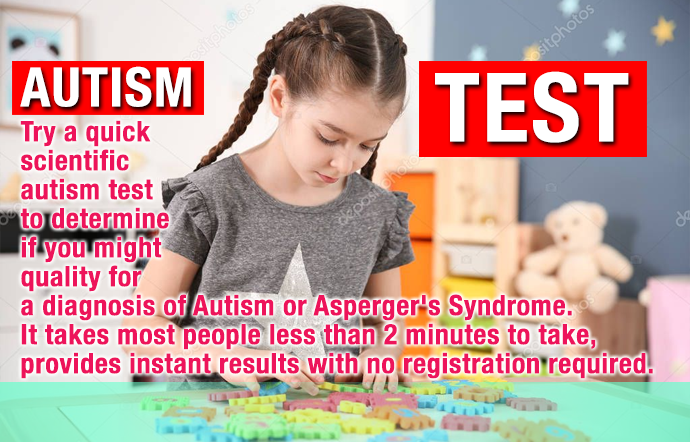 Autism test spectrum quotient OnLine  autism test child optical test